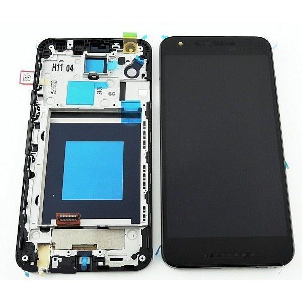 Дисплей для LG H791 Nexus 5X/H790 с тачскрином и рамкой черный Оригинал