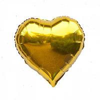 Шар фольгированный Сердце золото