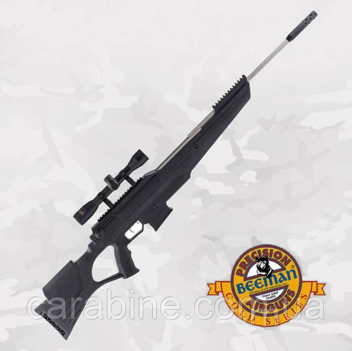 Пневматическая винтовка Beeman Bison Gas Ram с газовой пружиной и оптическим прицелом 4X32 в комплекте