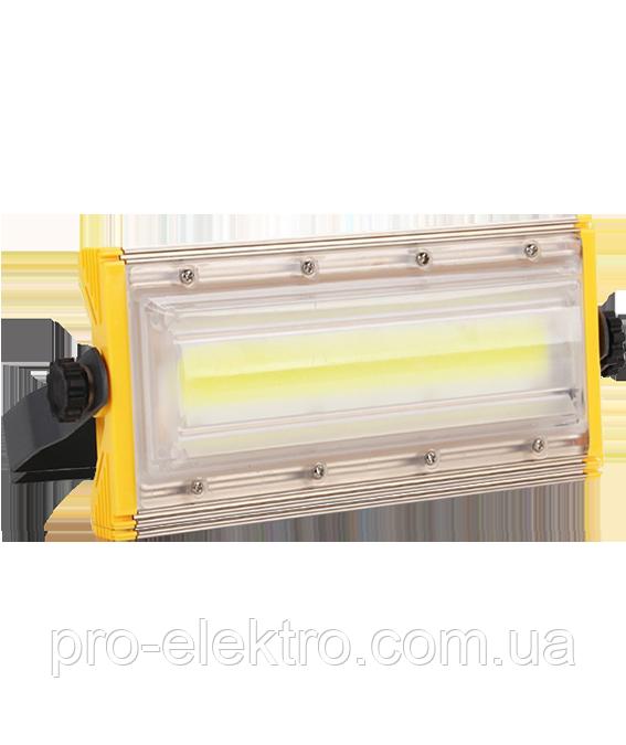 LED Прожектор Biom 50W AL PRO, COB AL PRO  PROFESSIONAL, 50W, Lum 5500, IP65, 6500К мощность 100%