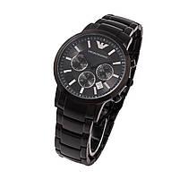 Emporio Armani AR2453 Black мужские классические наручные часы хронограф ААА  класса Япония 63b24abbafb