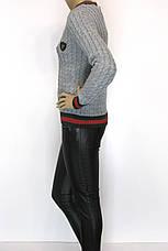 Модний жіночий джемпер з косичками в стилі Gucci, фото 2