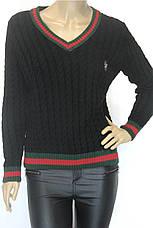 Модний жіночий джемпер з косичками в стилі Gucci, фото 3