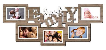 """Фоторамка коллаж """"Family"""" 34х80см., рамка для фотографий, настенный декор и подарок, фото 2"""