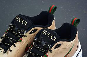 "Кроссовки Nike Air Monarch Gucci by Shme Custom ""Tan"" (Тан), фото 2"
