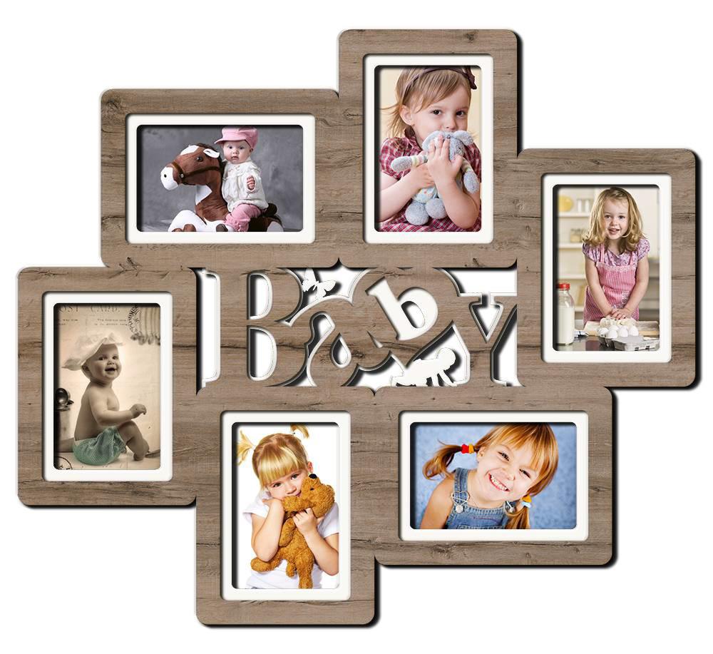 """Фоторамка коллаж  """"Baby"""" 57х50см., рамка для фотографий, настенный декор и подарок"""