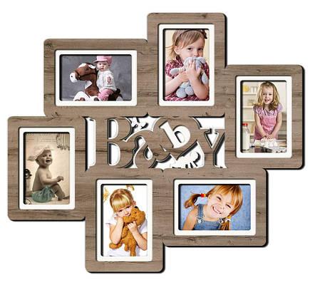 """Фоторамка коллаж  """"Baby"""" 57х50см., рамка для фотографий, настенный декор и подарок, фото 2"""