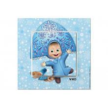 Розетка 1х з заз. Маша снігуронька VIKO Karre Kids