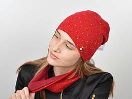 Женский комплект из шапки и хомута