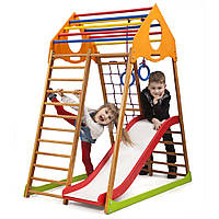 Детский спортивный комплекс для дома SportBaby «KindWood Plus 1»