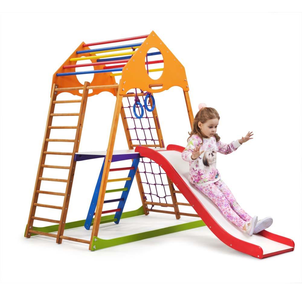 Детский спортивный комплекс для дома «KindWood Plus 2»