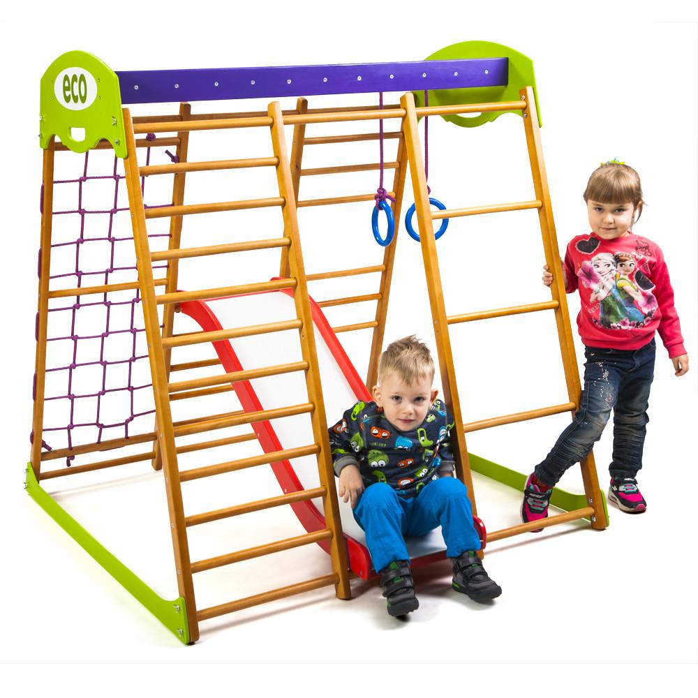 SportBaby Детский спортивный комплекс для квартиры Карамелька Plus 1