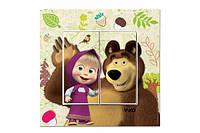 Выключатель двойной Маша и медведь VIKO Karre Kids