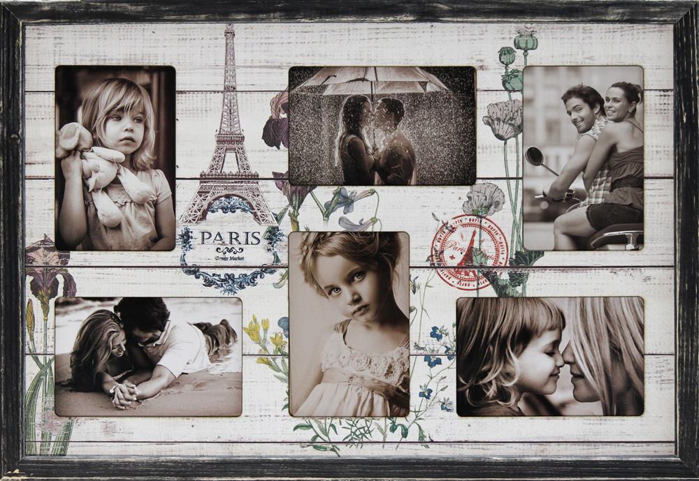 """Фоторамка коллаж """"Paris"""" 38х53см., рамка для фотографий, настенный декор и подарок"""