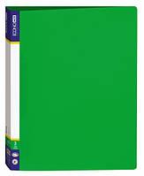 Папка пластиковая А4 Economix на 4 кольца, зеленая  E30702-04