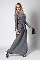 Платье мод 724-3 ,размер 40,48,50 т.серое