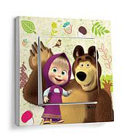 Выключатель Маша и медведь VIKO Karre Kids