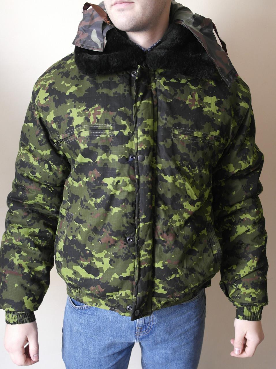 Куртка камуфляжная зимняя пиксель зеленый