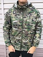 Куртка Хантер непромокаемая на флисе Мультикам, фото 1