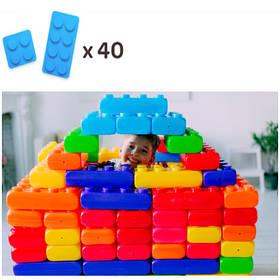 Конструктор з великих блоків 2 видів (40шт) MEGA