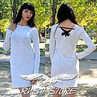 Белое платье с лентами