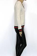 жіночий джемпер косичка в стилі Gucci, фото 2