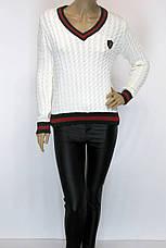 жіночий джемпер косичка в стилі Gucci, фото 3