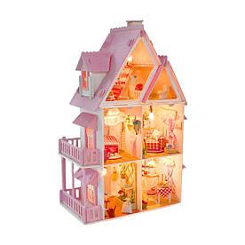 Кукольный домик MY LITTLE HOUSE с мебелью и светом
