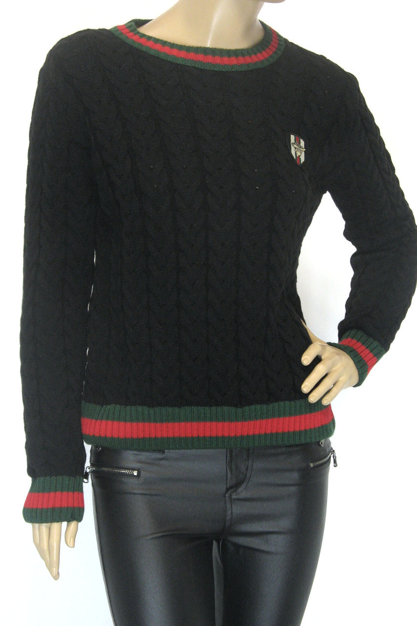 Женский свитер с косами Gucci