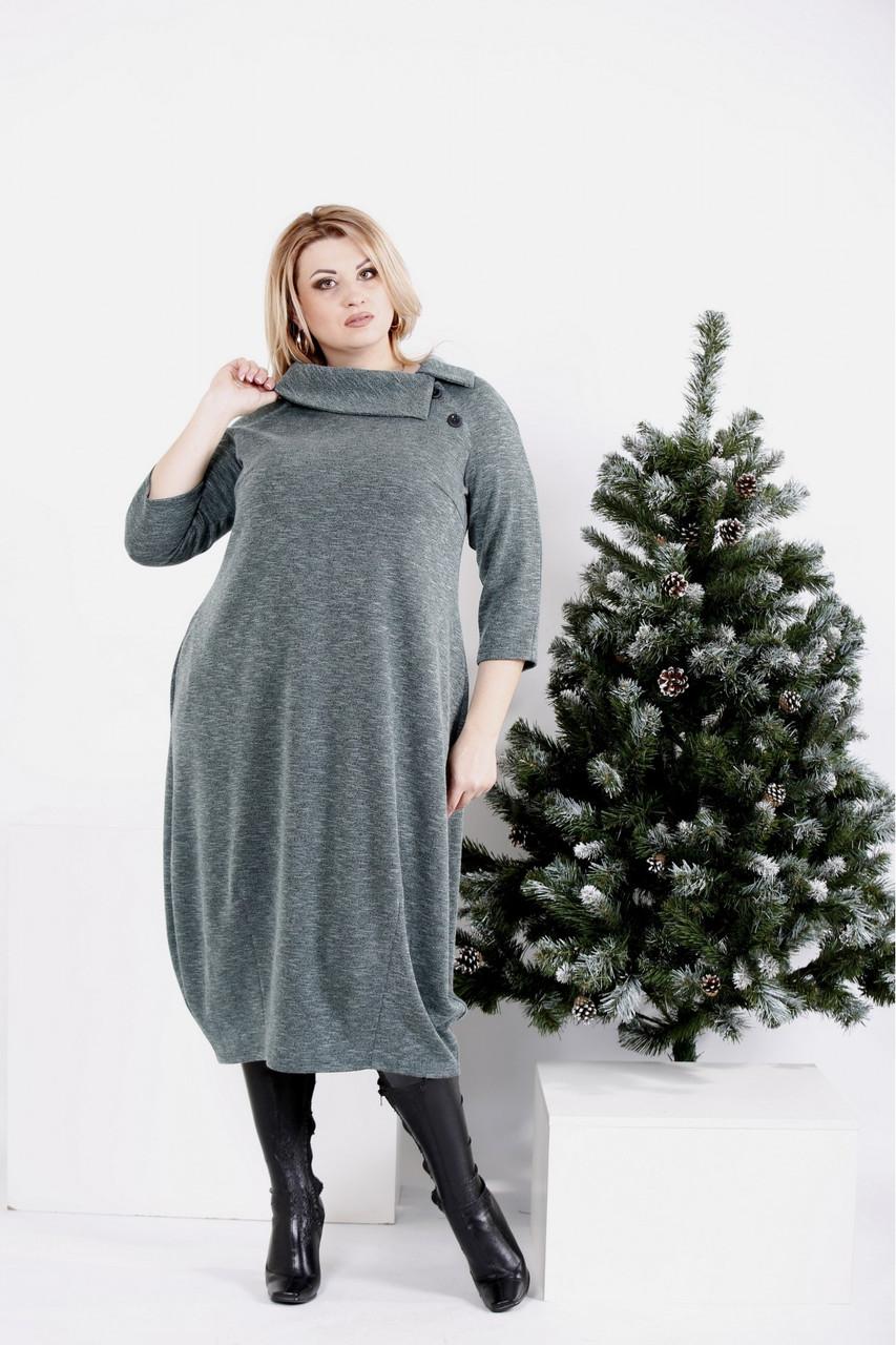 Теплое женское платье из ангоры размеры: 42-74