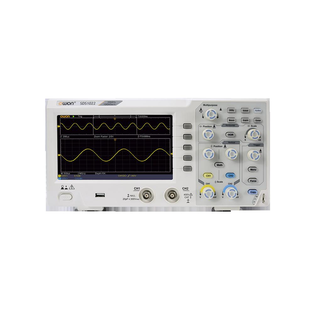 Цифровий осцилограф OWON SDS1102 (100 МГц, 2 канали)
