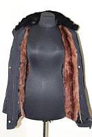 Куртка парка! натуральный мех! размер м-с , фото 1