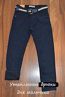 УТЕПЛЁННЫЕ, Котоновые брюки на флисе для мальчиков подростков.ШКОЛА! размеры 140-158 см.TAURUS.Венгрия