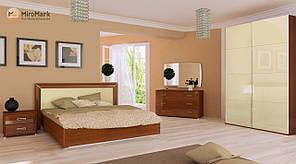 """Спальня """"Белла"""" від Миро-Марк (ваніль глянець, вишня бюзум)."""