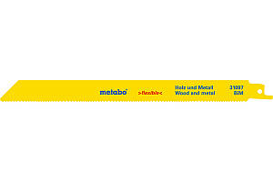 Полотна для сабельных пил 225 мм, 2 шт, дерево + металл, Metabo Flexible S1122VF (631097000)