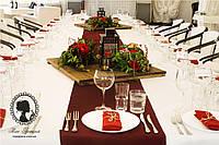 """Цветочная композиция на столы гостей """"Фонарик чёрный со свечой"""", фото 1"""