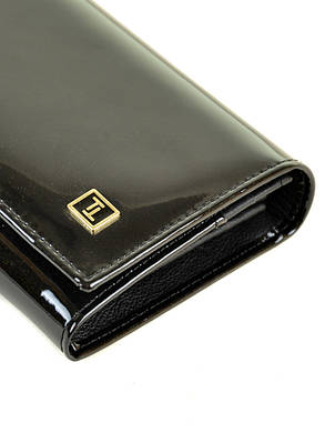 Женский кожаный лаковый кошелек W501/1, фото 2