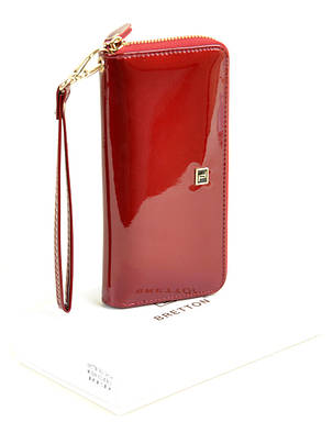 Женский кожаный лаковый кошелек BRETTON W38/2, фото 2