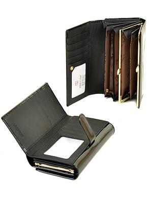 Женский кожаный лаковый кошелек W46/1, фото 2