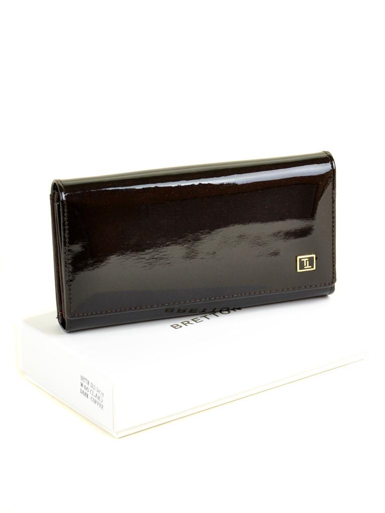 Жіночий шкіряний лаковий гаманець BRETTON W46/4