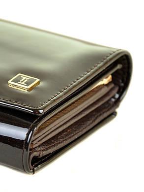 Женский кожаный лаковый кошелек W46/4, фото 2