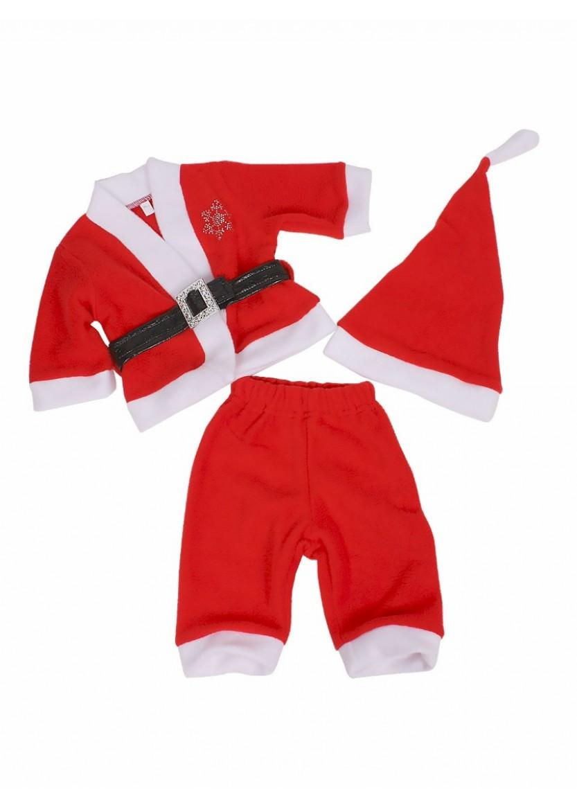 """Костюм новогодний  для мальчика """"Санта"""" красный 6-18 мес."""
