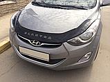 Дефлектор капота (мухобойка) Hyundai elantra md (хюндай елантра мд 2012+), фото 2