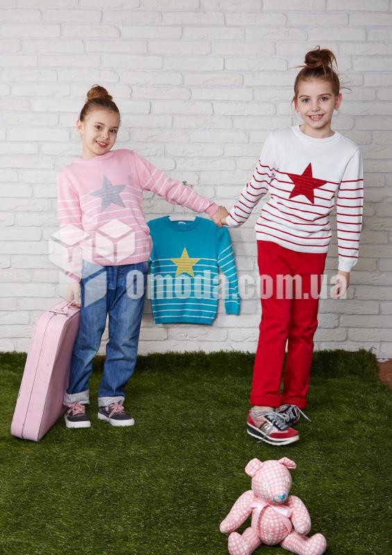 Кофта детская в полоску с звездой