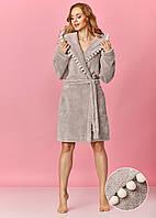 Жіночий халат середньої довжини на запах L&L 8142