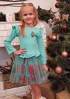 Детское платье Тюльпанчик р.104-116 мята