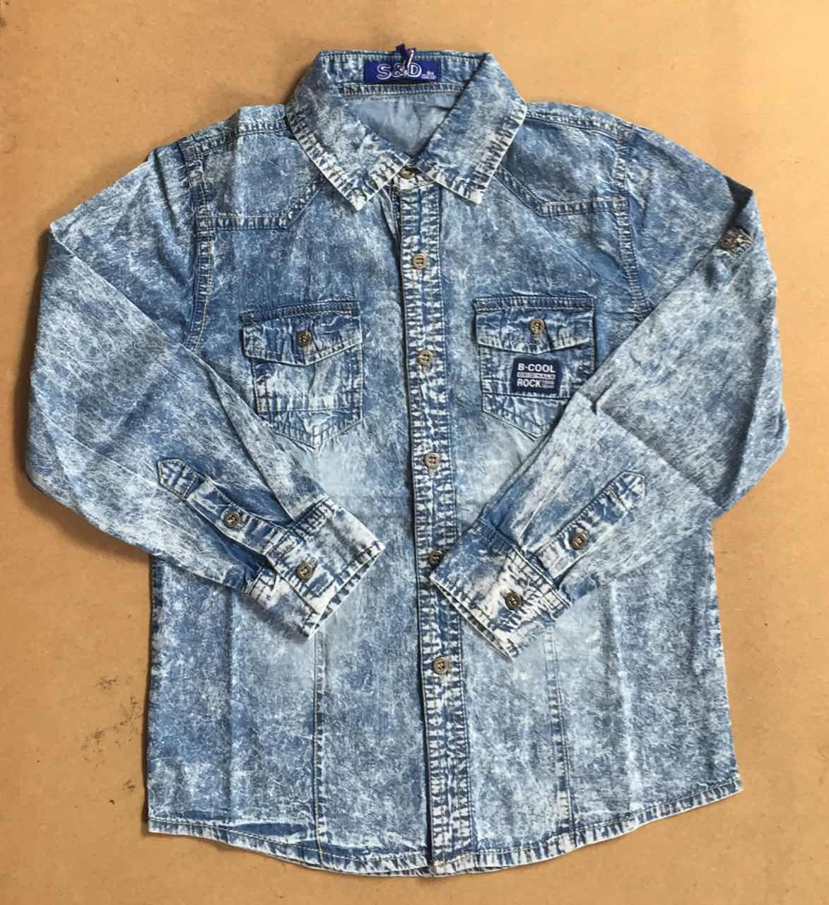 Джинсовая рубашка для мальчиков S&D 10-16 лет