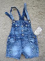 Джинсовые шорты-комбинезон для девочек, размеры 4-6 лет, фирма F&D