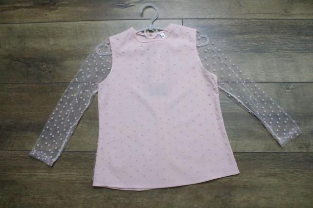 Шифоновая блузка для девочек. 116- 140 рост.