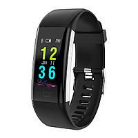 Фитнес браслет с тонометром F07 plus для iPhone и Android давление крови пульс калории датчик сна черный